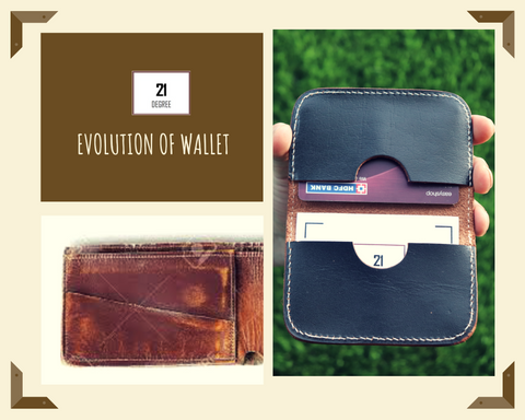 21 degree Genuine leather card holder