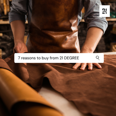 Why 21 Degree is the belt leather accessories brand in India