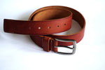 Load image into Gallery viewer, Men's Casual Show Stitched Leather Belt with Fancy Buckle