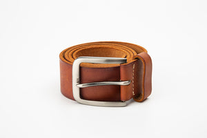 Men's Casual Pure Leather Belt - Tan