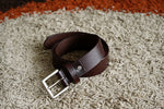 Load image into Gallery viewer, Men's Brown Plain Pure Leather Belt - 21 Degree Branded