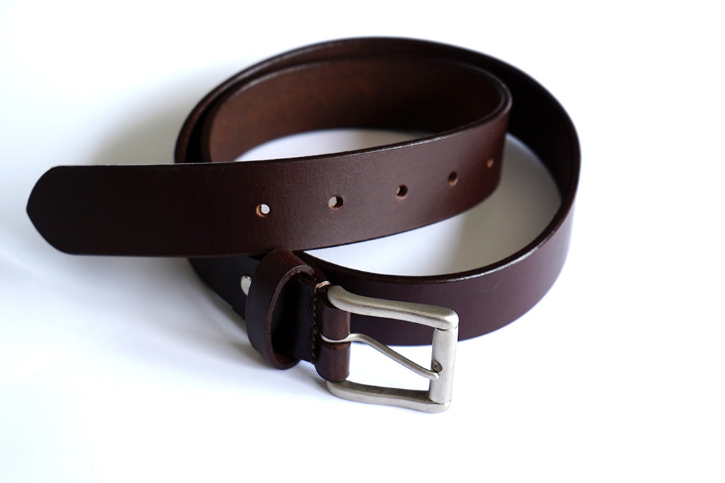Men's Brown Formal Pure Leather Belt