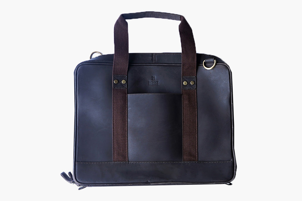 21 Degree's Brown laptop bag in leather