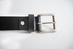 Men's Black Formal Pure Leather Belt