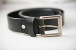 Load image into Gallery viewer, Men's Black Office Pure Leather Belt