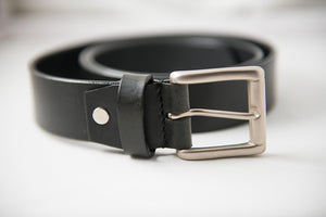 Men's Black Office Pure Leather Belt