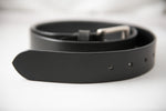 Load image into Gallery viewer, Men's Black Plain Pure Leather Belt for  Office