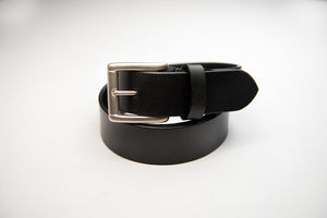 Men's Black Plain Pure Leather Office Formal Belt