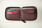 Load image into Gallery viewer, 21 Degree maroon zipper wallet