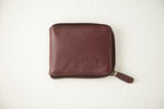 Load image into Gallery viewer, Maroon zipper wallet closed