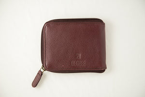 Logo maroon zipper 21 degree
