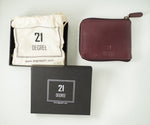 Load image into Gallery viewer, 21 Degree packing maroon wallet