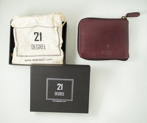 21 Degree packing maroon wallet