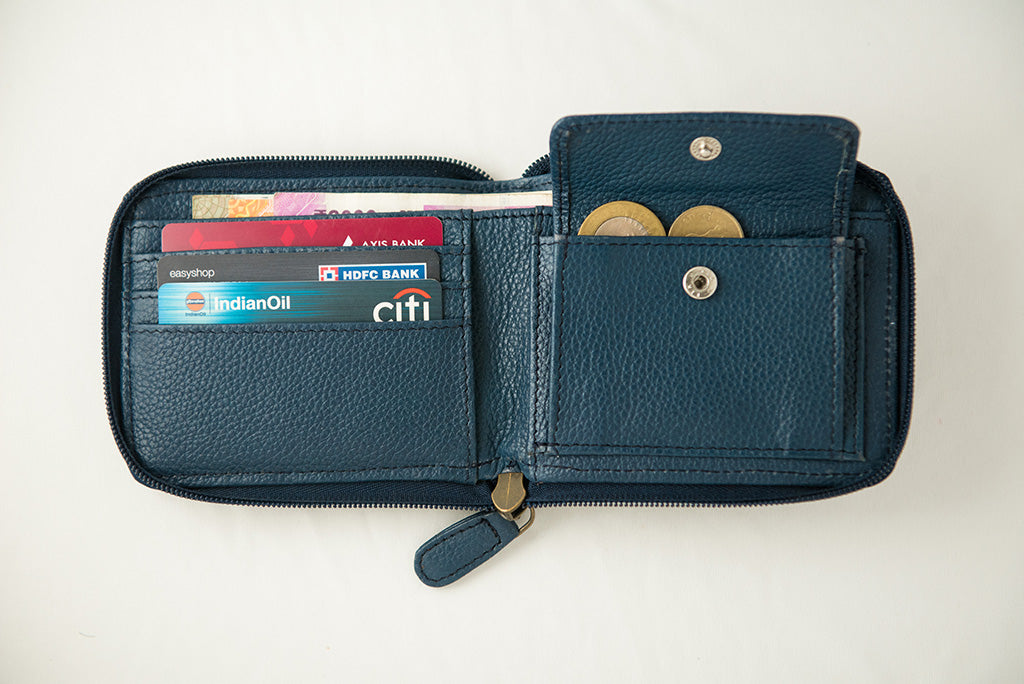 21 Degree women's blue wallet