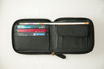 Load image into Gallery viewer, Black zipper wallet women's