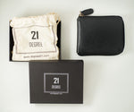 Load image into Gallery viewer, Packed 21 degree black zipper wallet