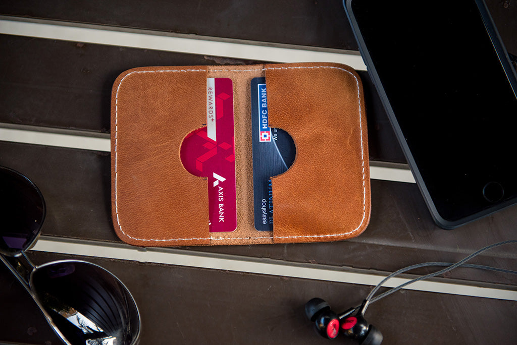 Pure leather cardholder (2 pocket)
