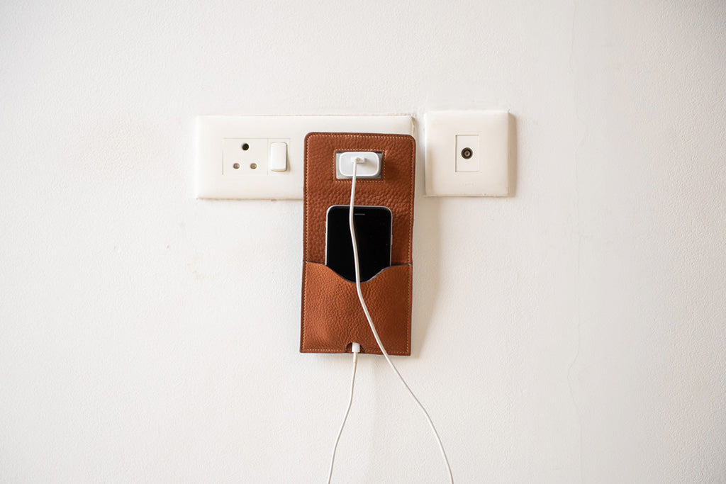 Leather phone charger by 21 Degree