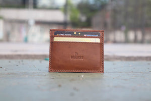 21 Degree Branded Leather Card holder