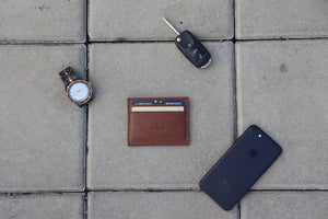 5 pocket genuine leather card holder