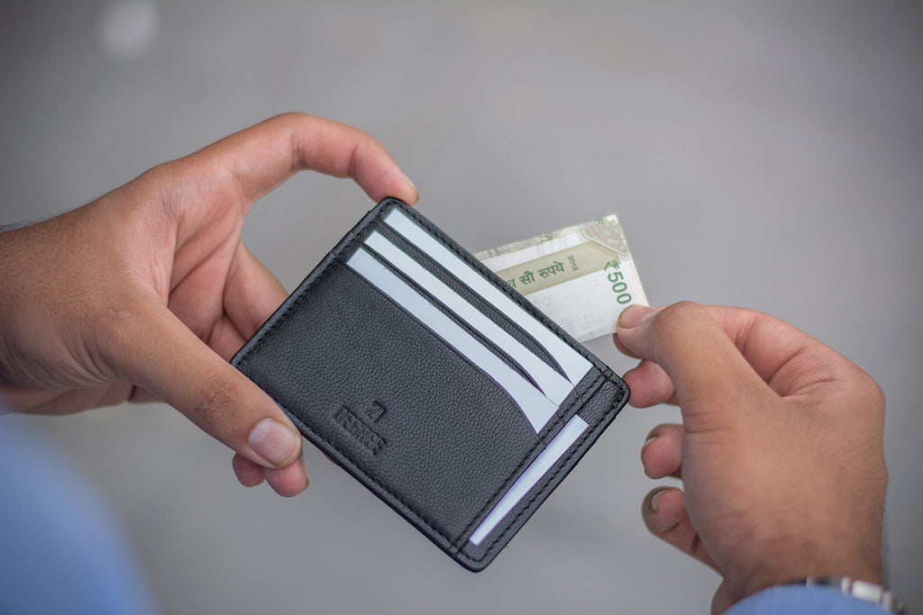 Carry along wallet for men