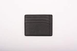 Black 9 pocket card holder made of real leather