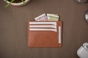Tan 9 pocket card holder for all usages