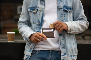 Slim leather wallet cum card holder