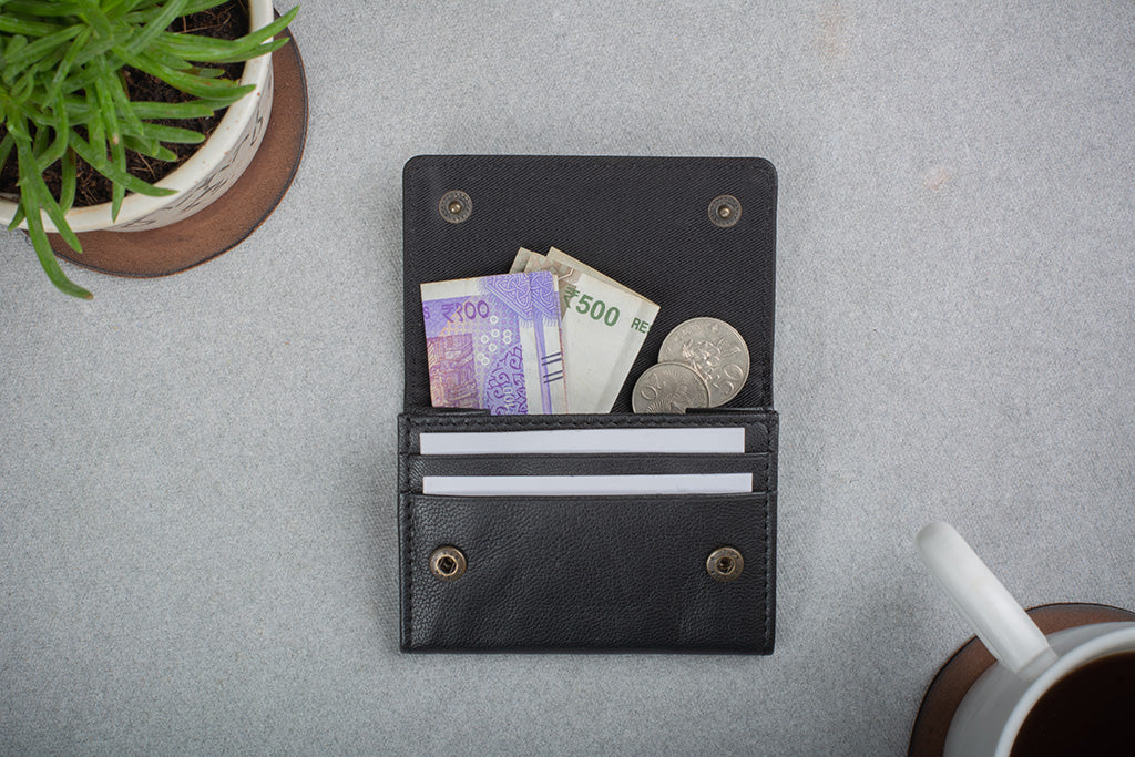Business card holder and replacement for wallet
