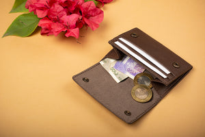 Unisex card cash and coins min wallet