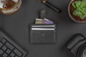 Card and cash holder small wallet