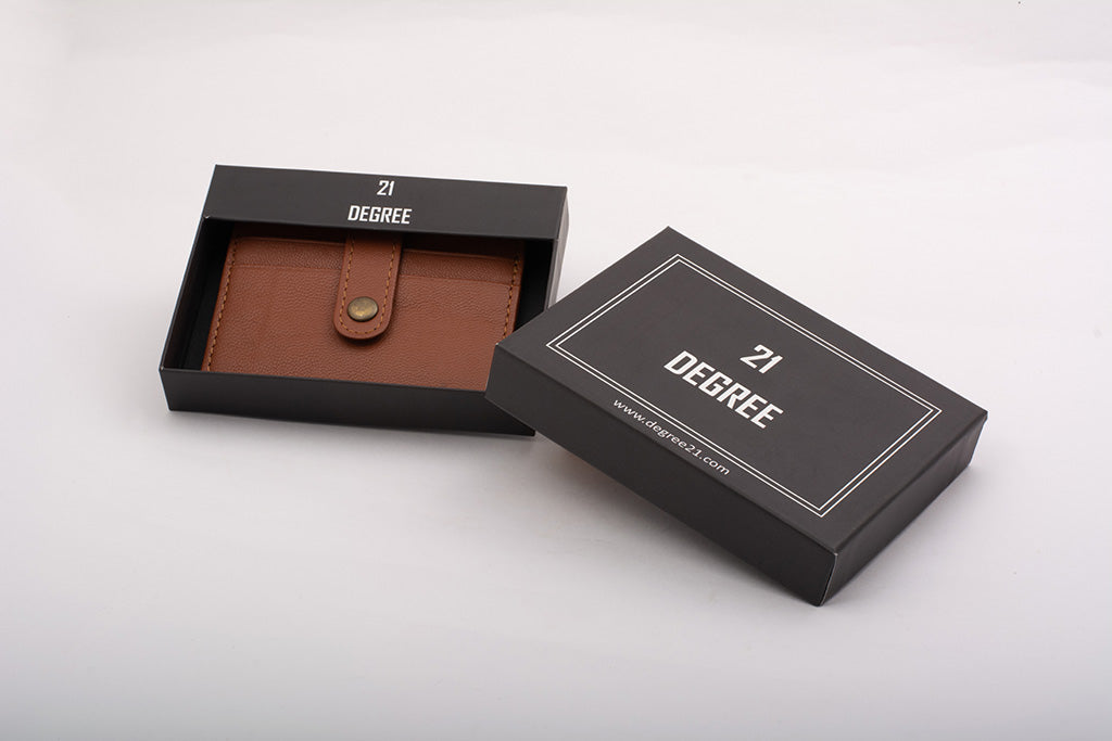 21 degree leather card holder packaging