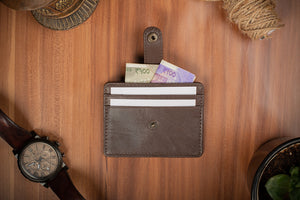brown card holder buy online