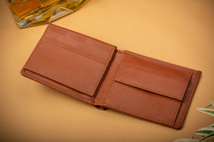 Tan wallet for man gift option