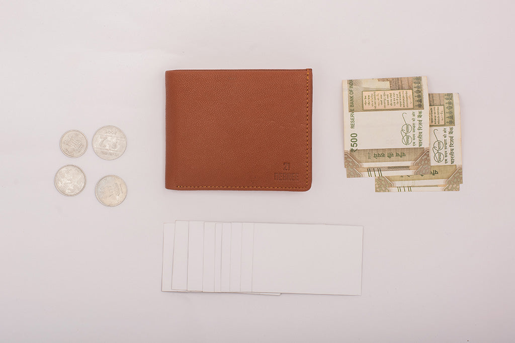 Wallet with card and coin pockets
