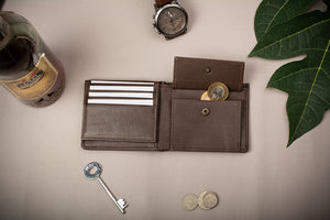 Brown wallet for men to buy online with high design and utility