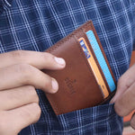 Load image into Gallery viewer, Usage of best 5 pocket card holder in India in real life