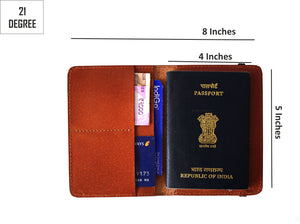 Tan passport cover details sizes