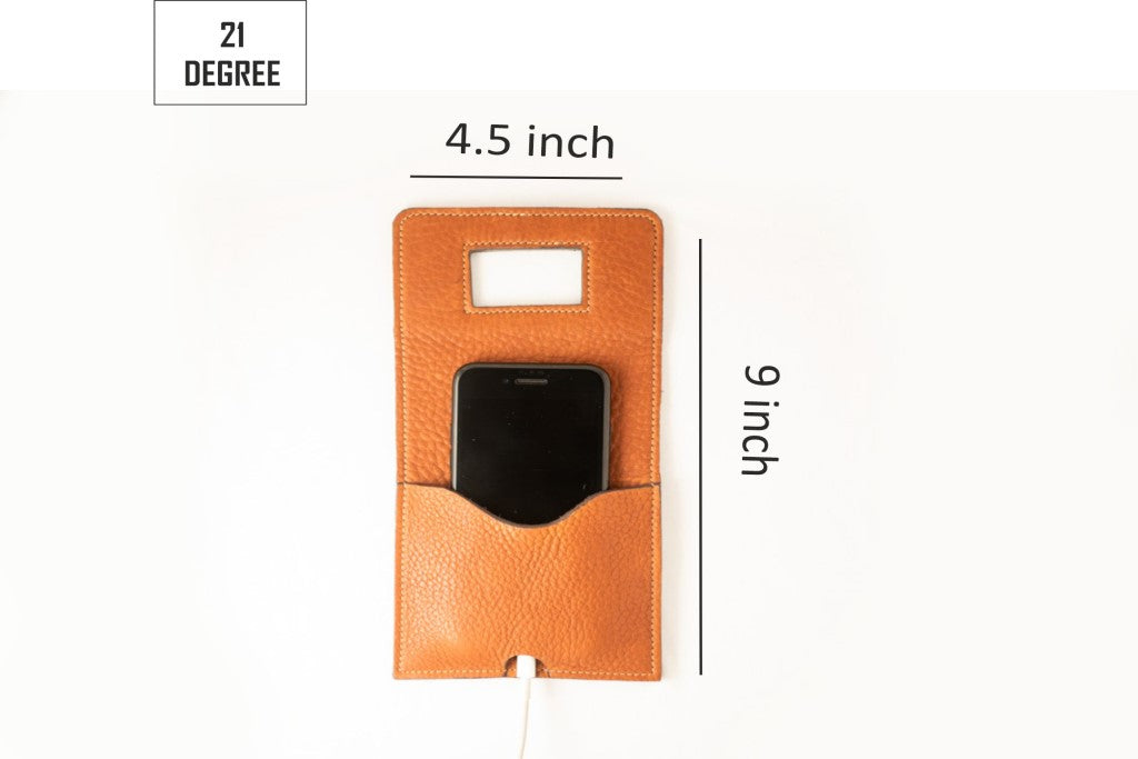 Tan phone charger holder sizes