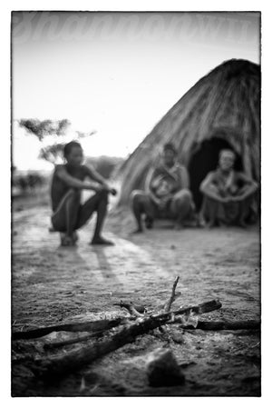 Load image into Gallery viewer, 'San By The Fire' Tribal Photo Print - Wild In Africa