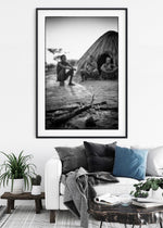 'San By The Fire' Tribal Photo Print - Wild In Africa