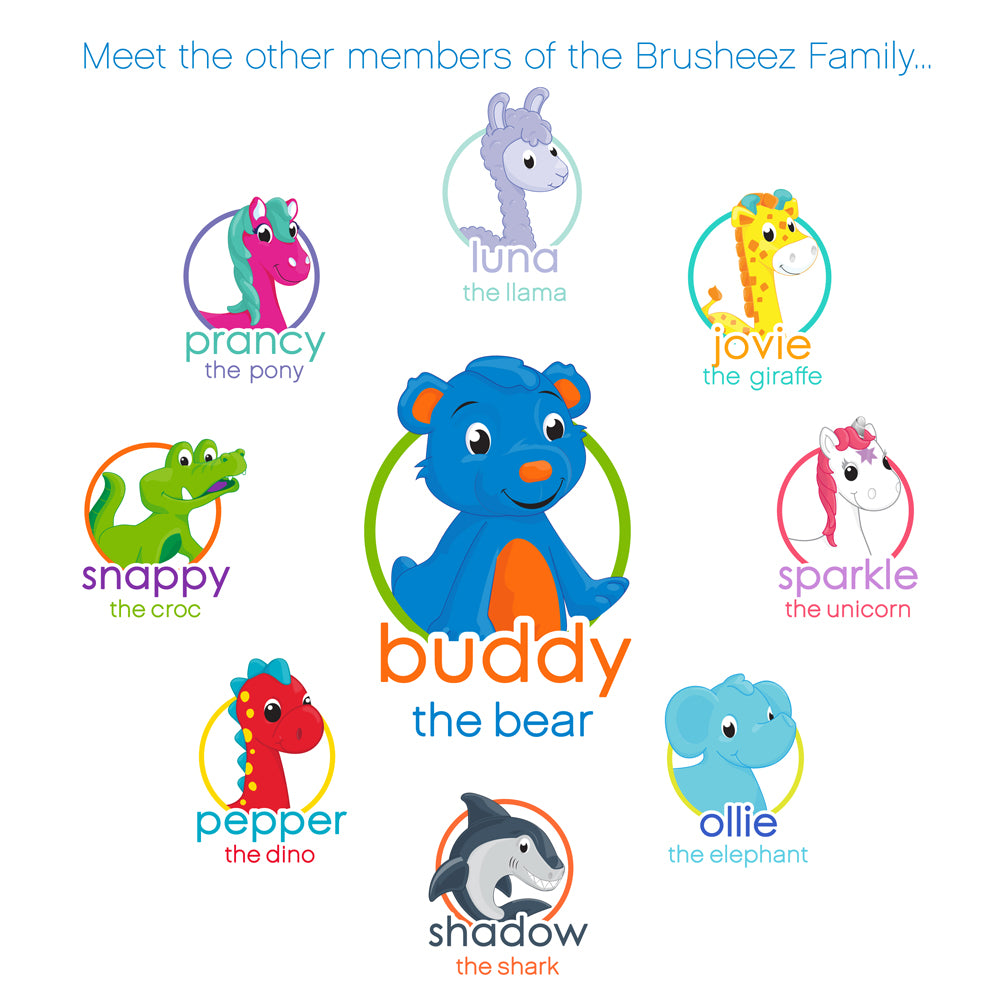 Brusheez Replacement Brush Heads 2 Pack - Buddy the Bear