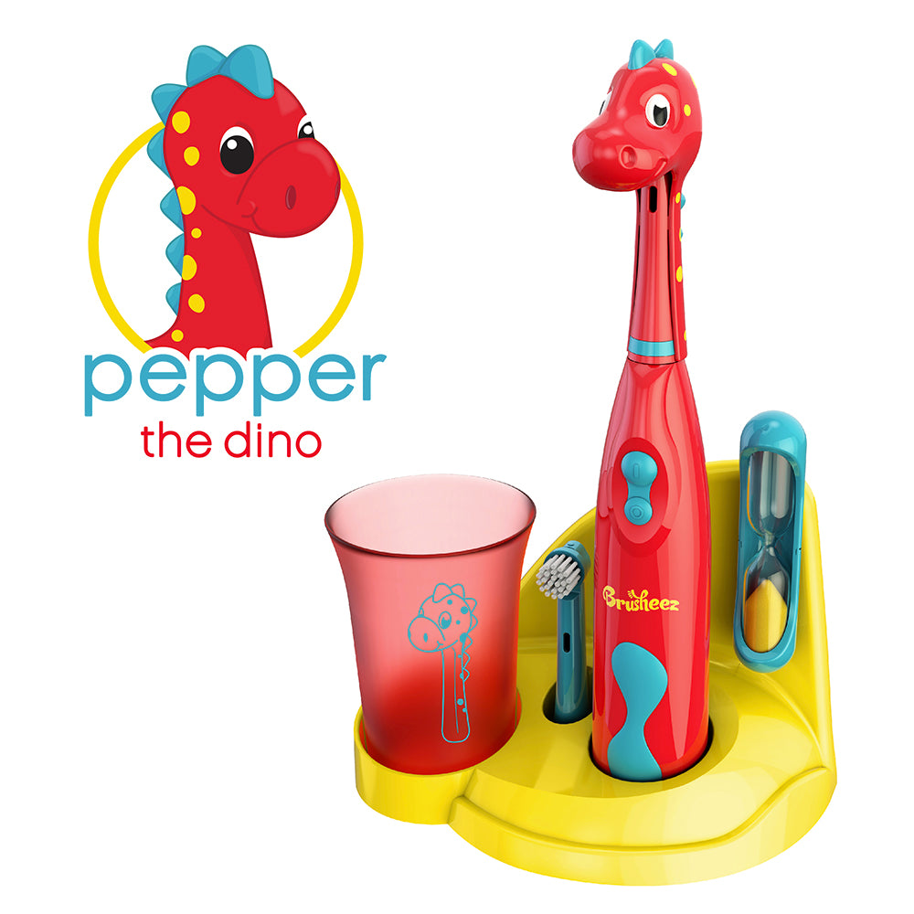 Brusheez Electric Toothbrush Set - Pepper The Dino