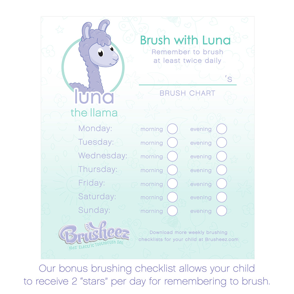 Brusheez Electric Toothbrush Set - Luna The Llama