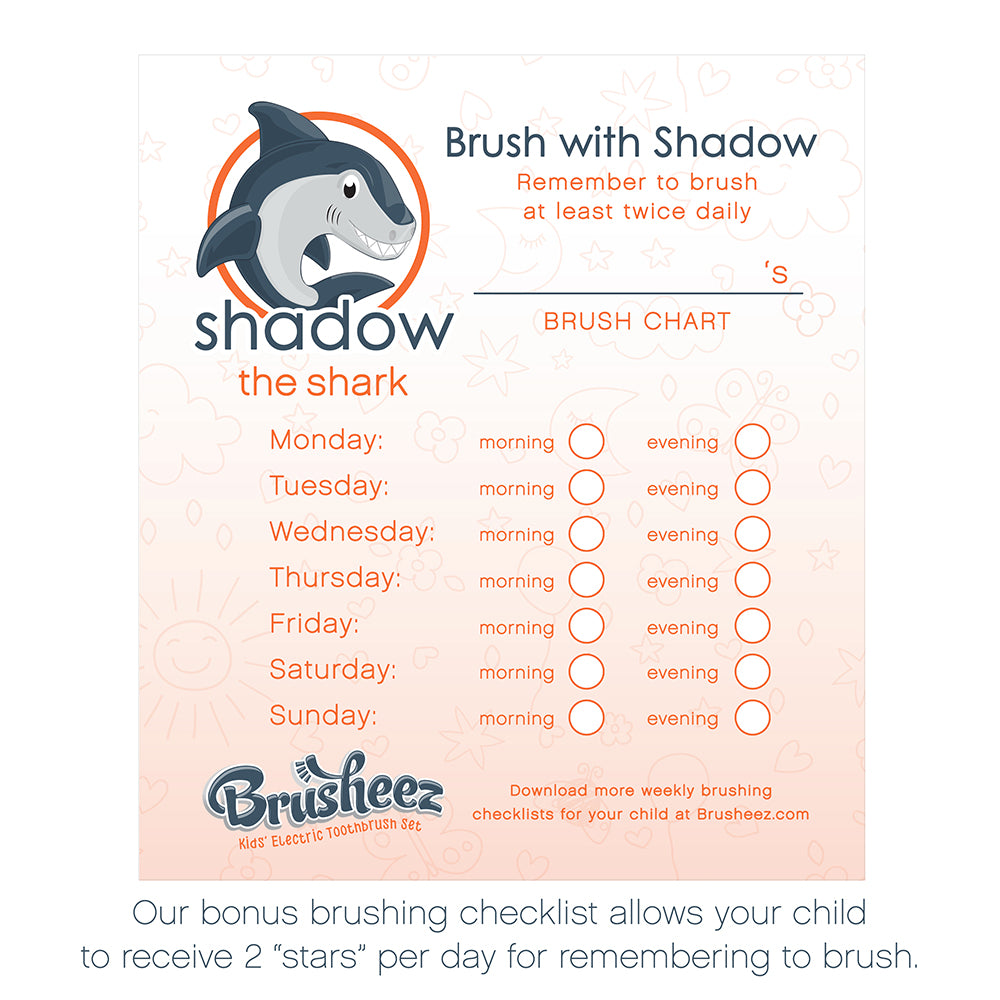 Electric Toothbrush Set - Shadow the Shark | Brusheez®