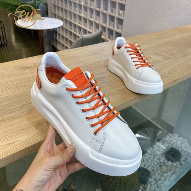 white leather platform sneakers womens