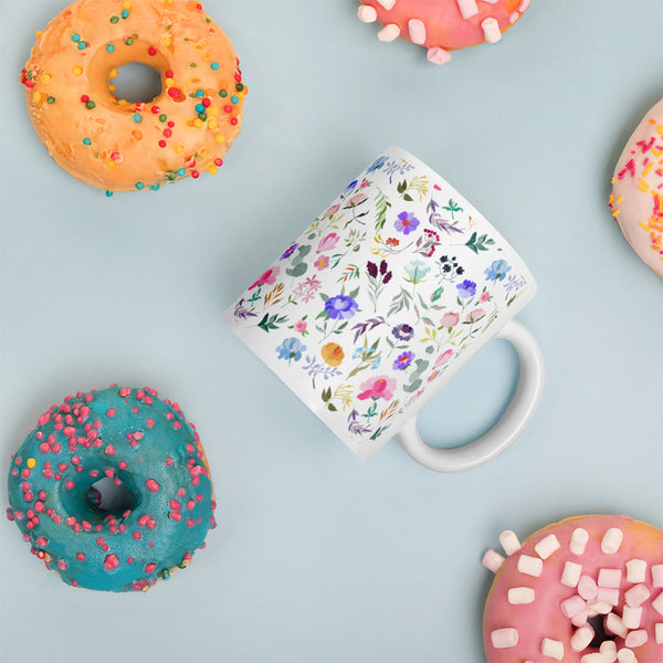 Colorful Flower Pattern Mug