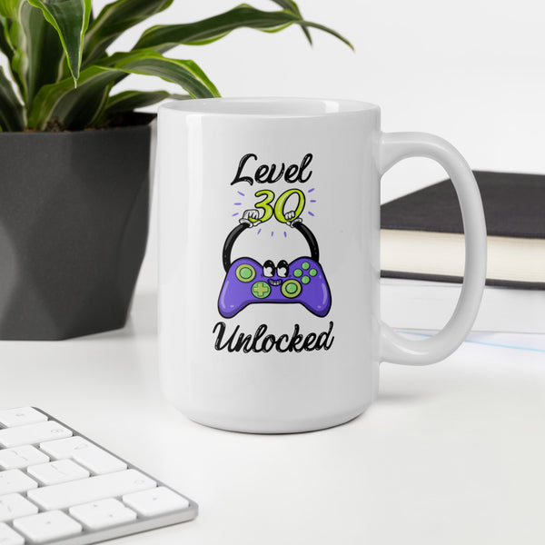 Level 30 Unlocked XBox Controller Birthday Mug