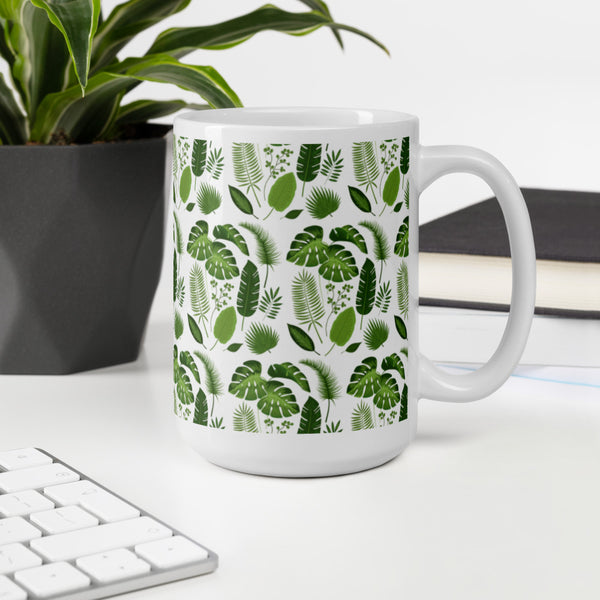 Tropical Leaf Nature Mug