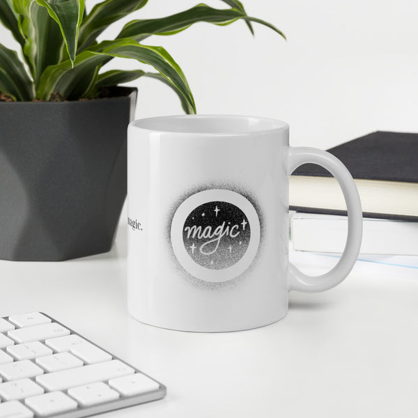 Magic Coffee Typography Mug